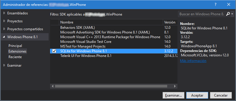 SQLite for Windows Phone 8.1